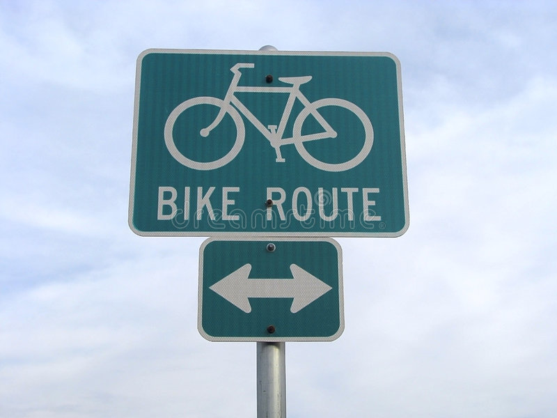Bike traffic sign. royalty free stock photo