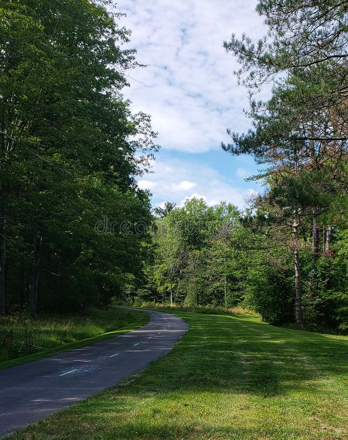 Bike trail stock image