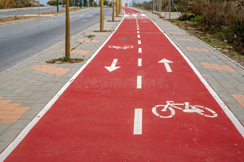 Bike Trail in city royalty free stock photos