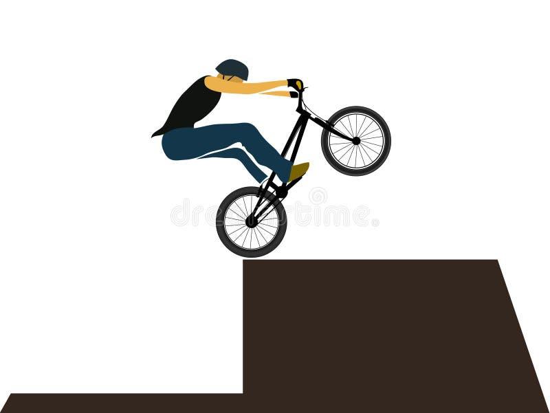 Bike trial jumping vector illustration