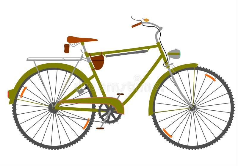 Visitando a bicicleta. ilustração royalty free