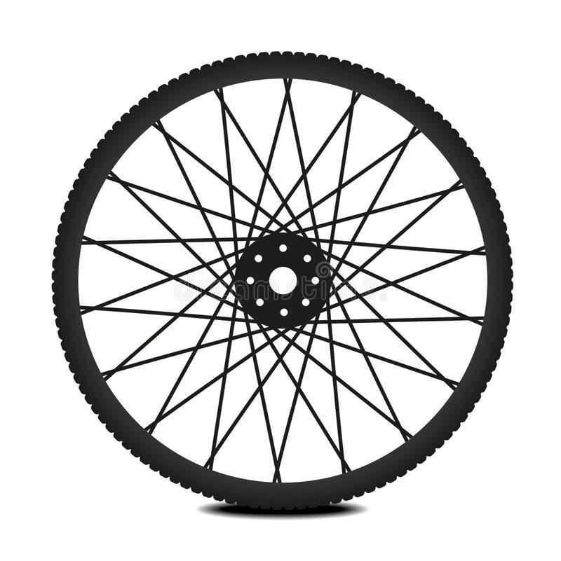 Bike wheel stock illustration