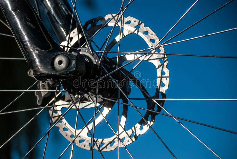 Bike Wheel. Detail of a bike wheel royalty free stock photo