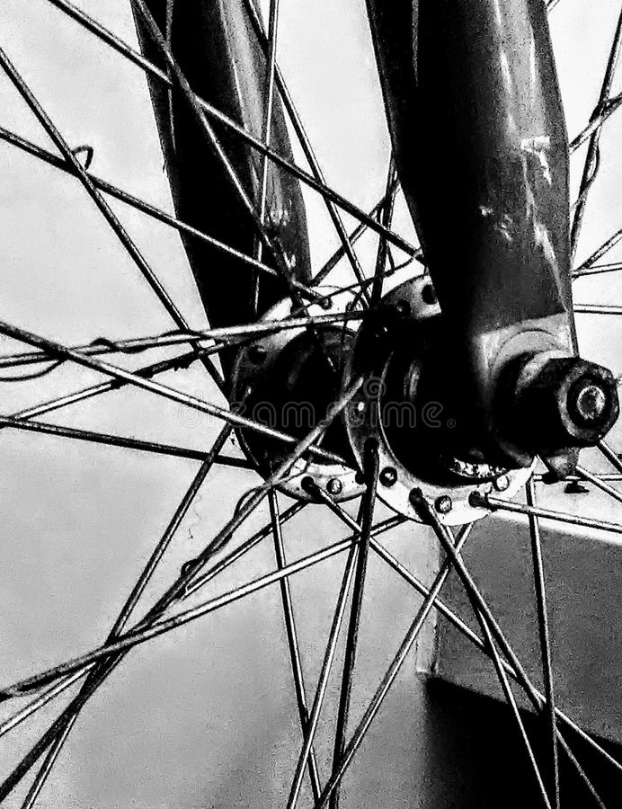 Download Bike Wheel In Black And White Stock Photo - Image of bike, spokes: 105343506