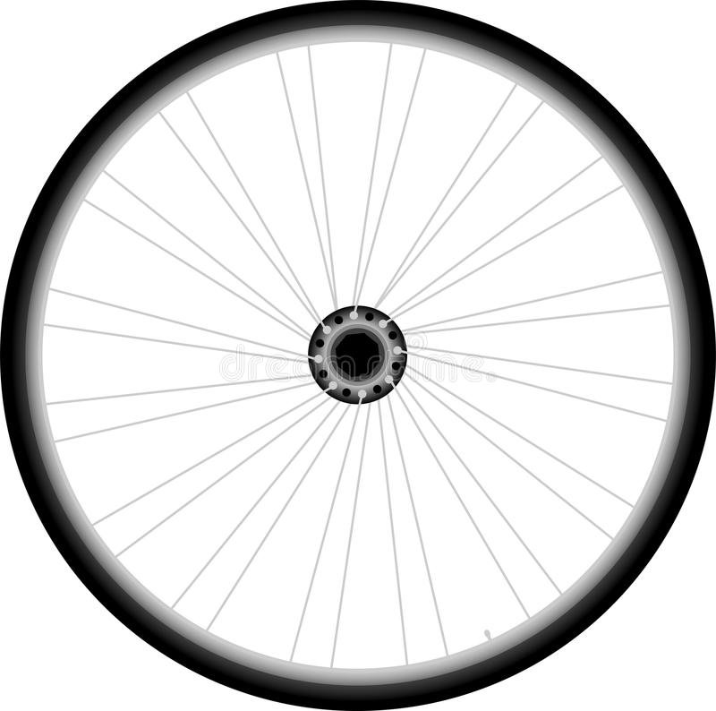 Free Bike Wheel - Vector On White Background Royalty Free Stock Images - 27020259