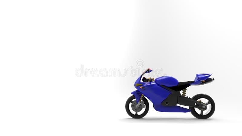 Bikeblue vektor illustrationer