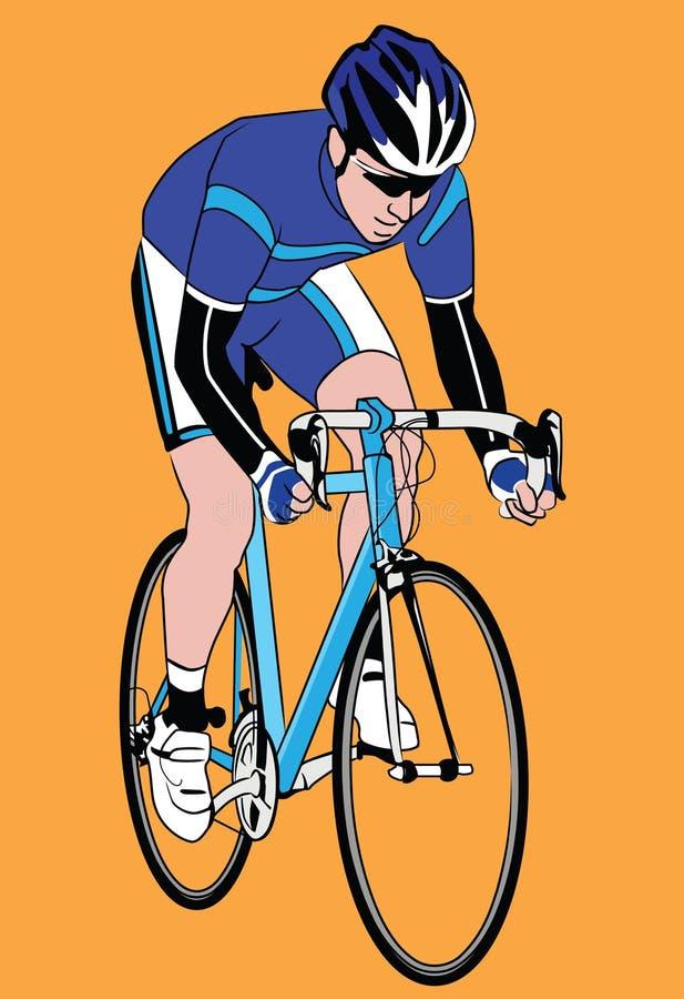 Download Biker stock vector. Image of runner, ride, champion, racer - 14463736