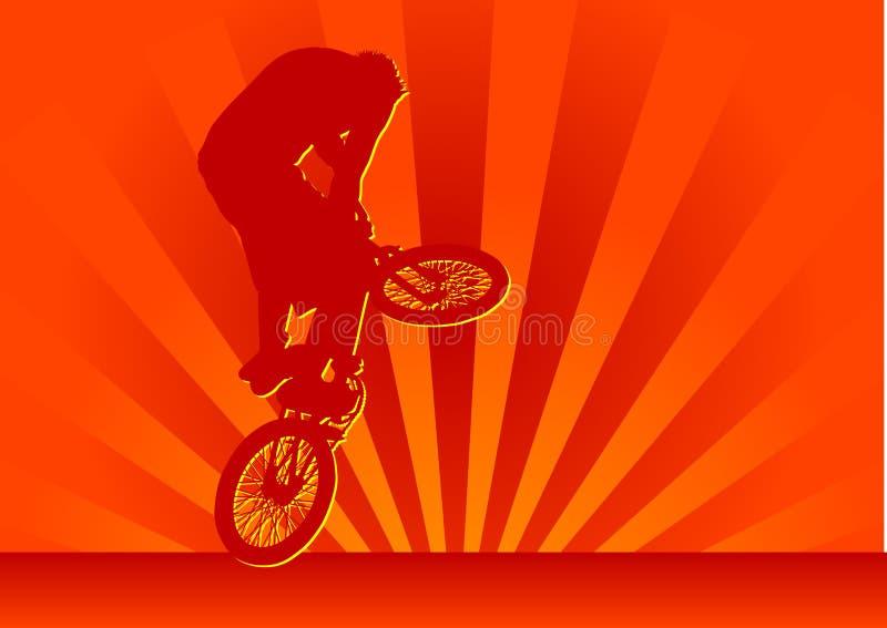 Download Biker stock illustration. Illustration of sunset, stunting - 3369437