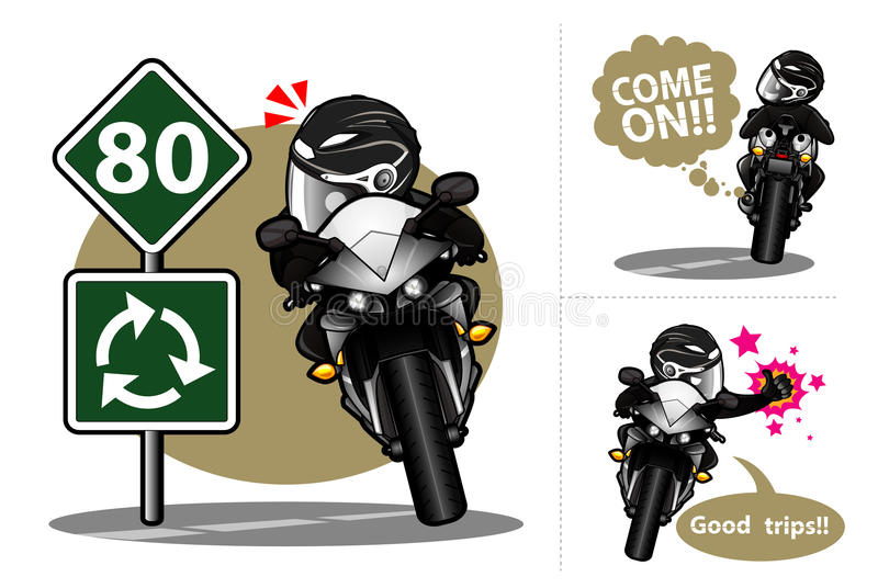 biker stock illustratie