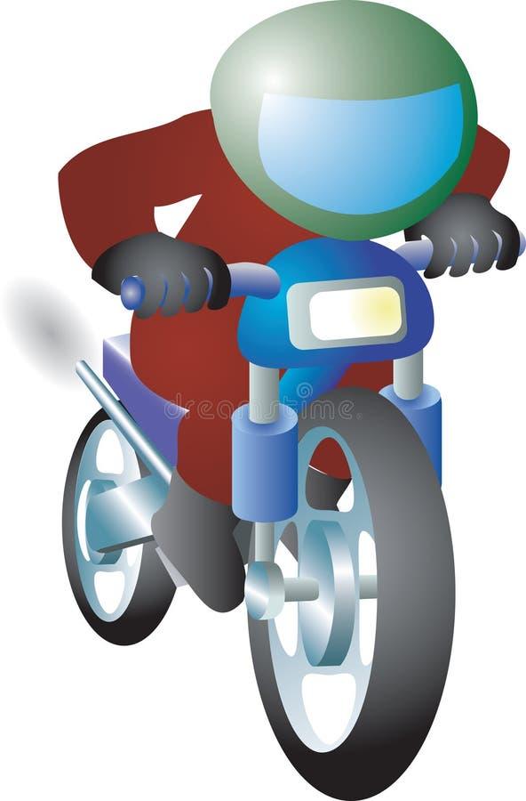 Biker royalty free illustration