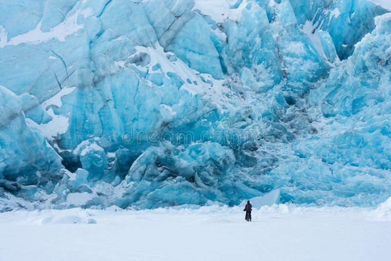 Portage glacier in wintertime stock images