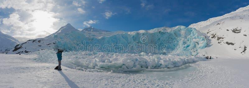 Portage glacier in wintertime royalty free stock image