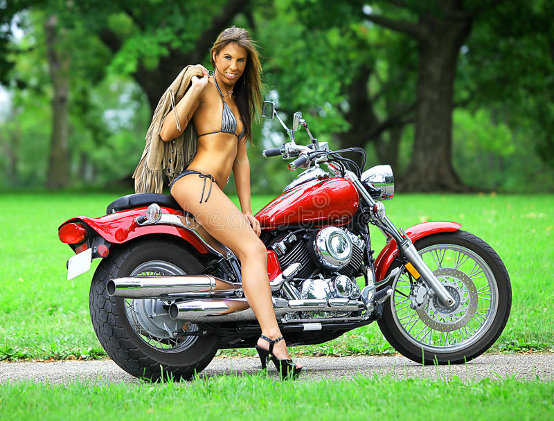 Download Biker babe stock photo. Image of person, adventure, bicycle - 15662286
