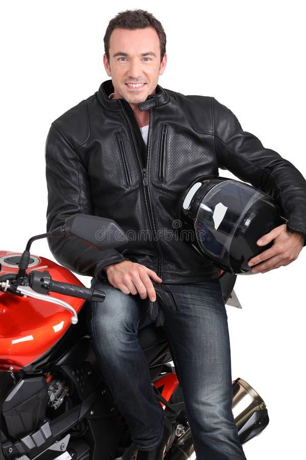 Download Biker and bike stock image. Image of 30, bike, eyes, facial - 26792359