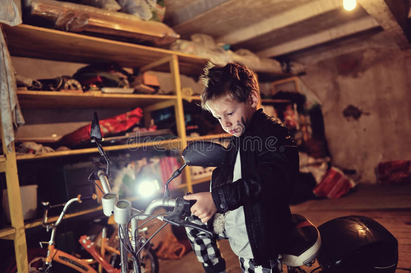 Download Biker Boy Stock Photography - Image: 33590822