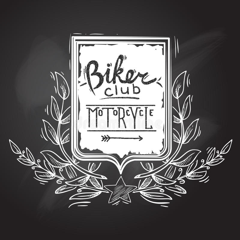 Biker Club Emblem royalty free illustration