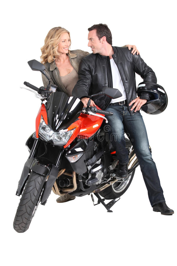 Download Biker couple stock photo. Image of helmet, chic, couples - 26939504
