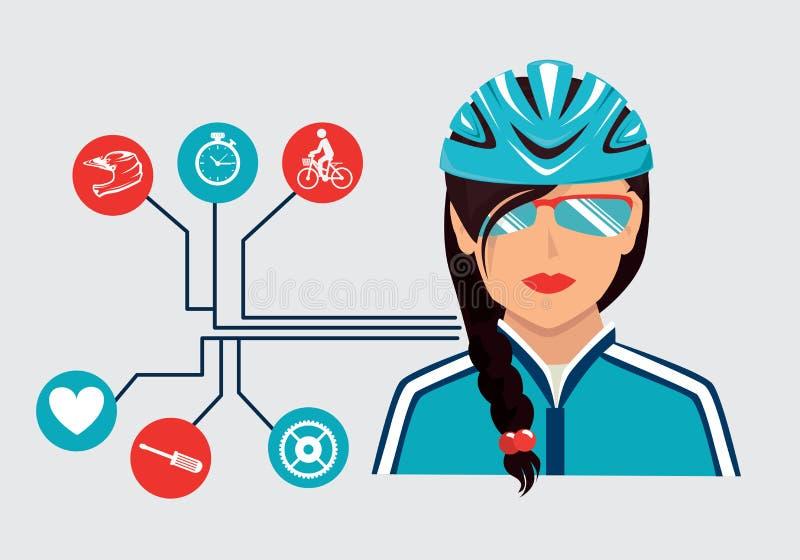 Biker design stock illustration