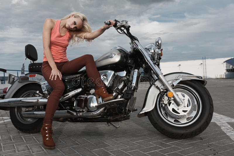 Download Biker girl stock photo. Image of cute, beauty, young - 26564510