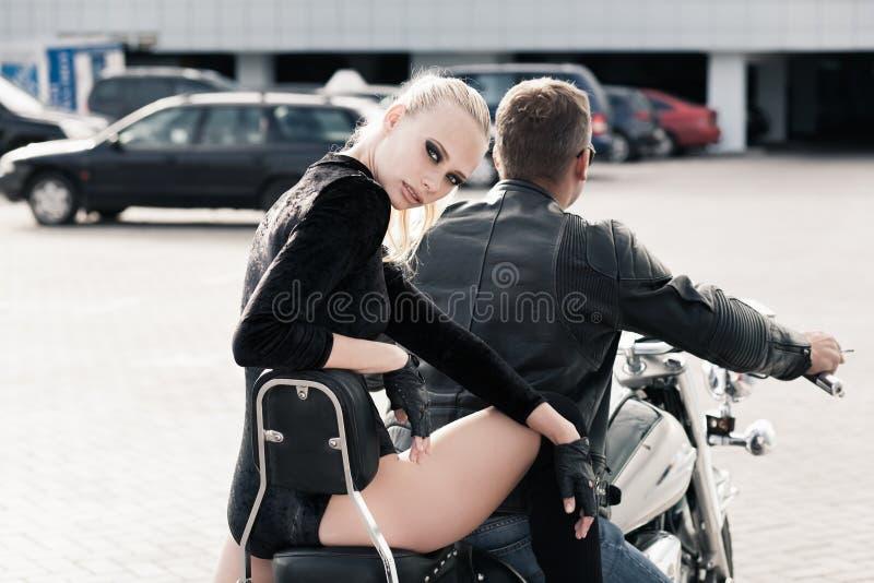 Biker Girl Royalty Free Stock Images
