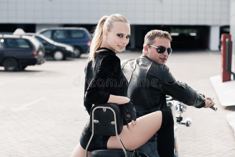 Download Biker girl stock image. Image of beauty, bike, glamour - 26572081