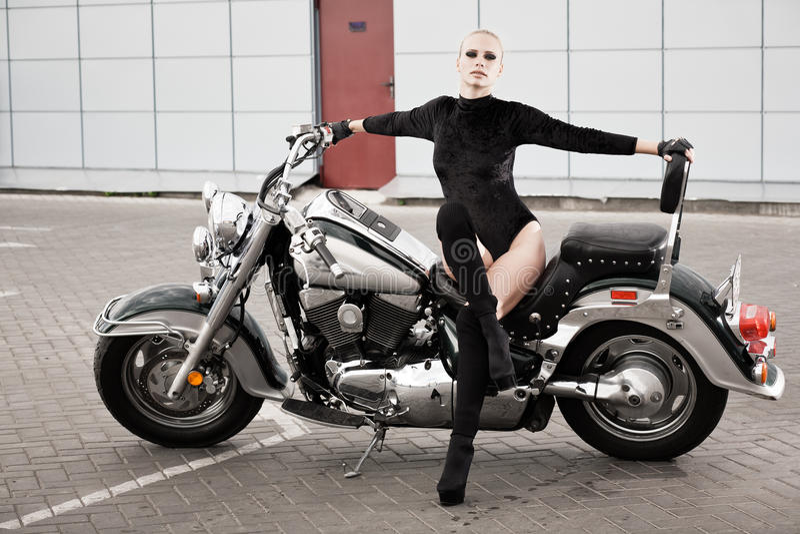 Download Biker girl stock photo. Image of femininity, portrait - 26574260