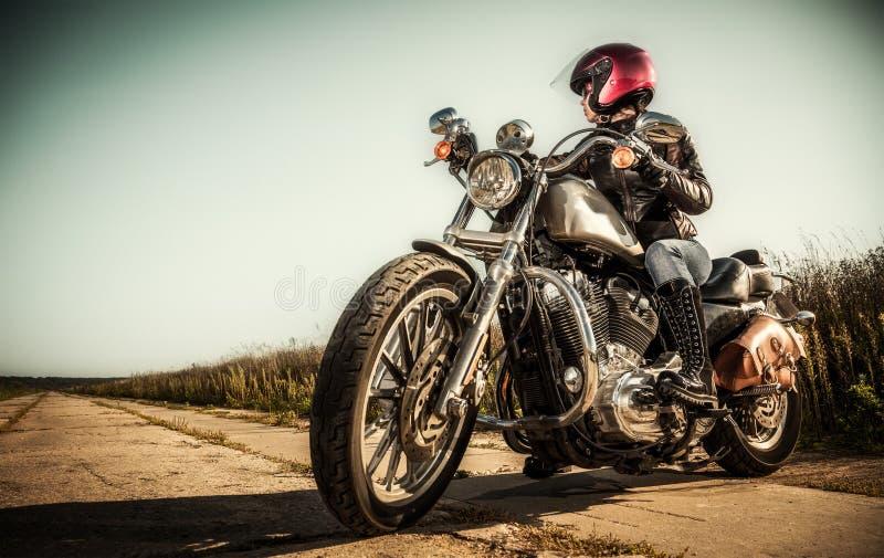 Biker girl royalty free stock photos