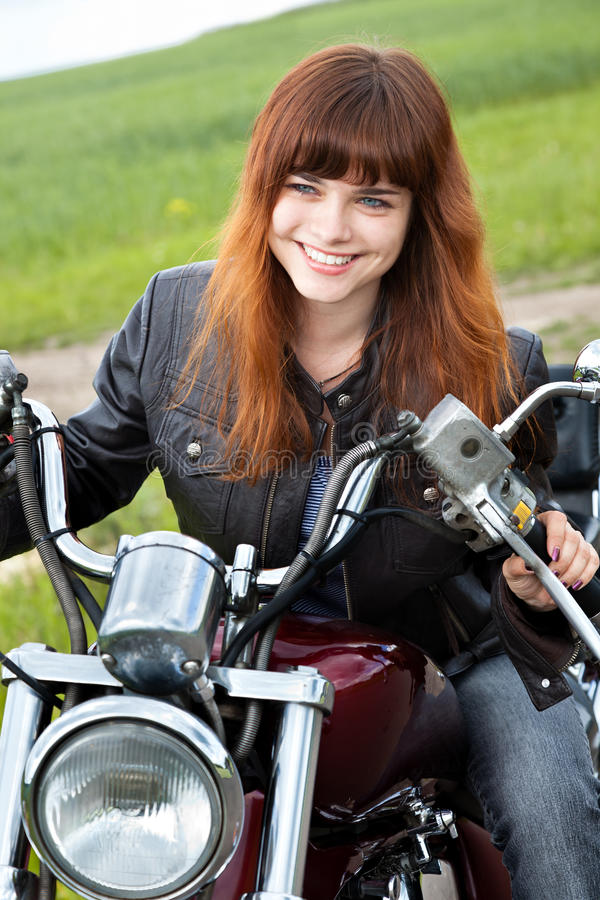 Download Biker girl on a motorcycle stock photo. Image of motorcycle - 15724162