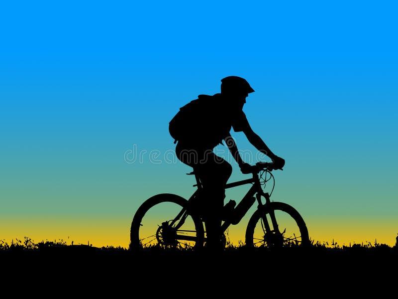 Biker Girl Silhouette Stock Photos