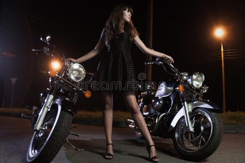 Download Biker girls stock image. Image of woman, pretty, girl - 26190541