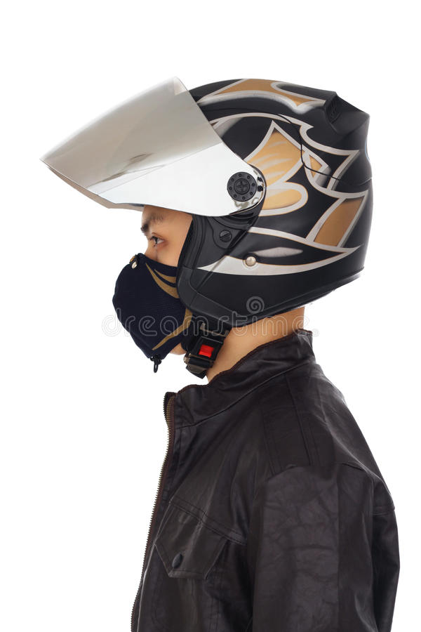 Download Biker with helmet and mask stock photo. Image of mask - 20870154