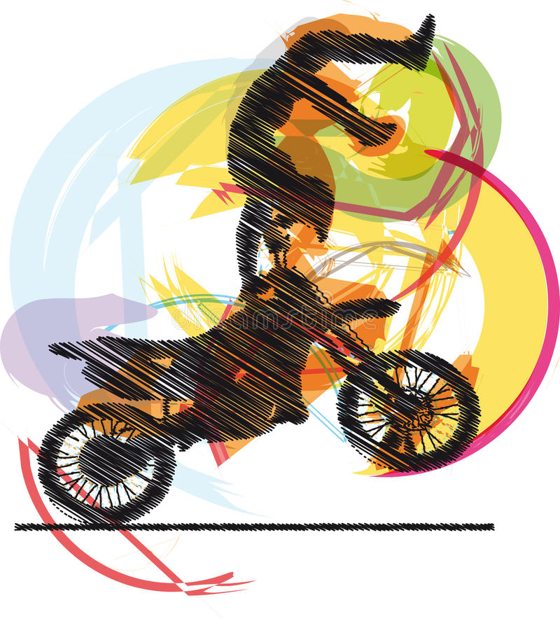 Download Biker illustration stock vector. Illustration of competition - 21384790