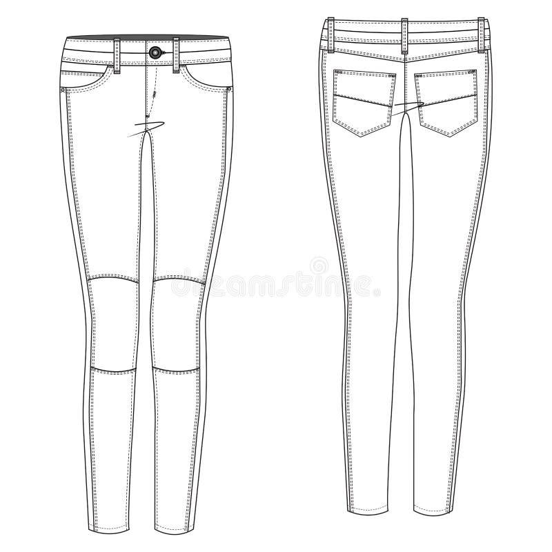 Download Biker Jean stock vector. Illustration of drawing, design - 39501169