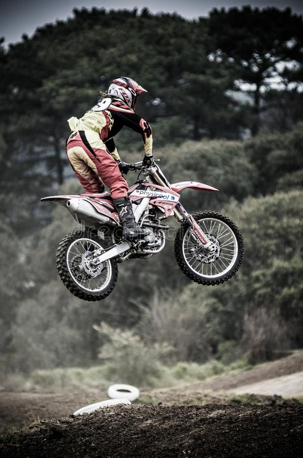 Biker leaping course