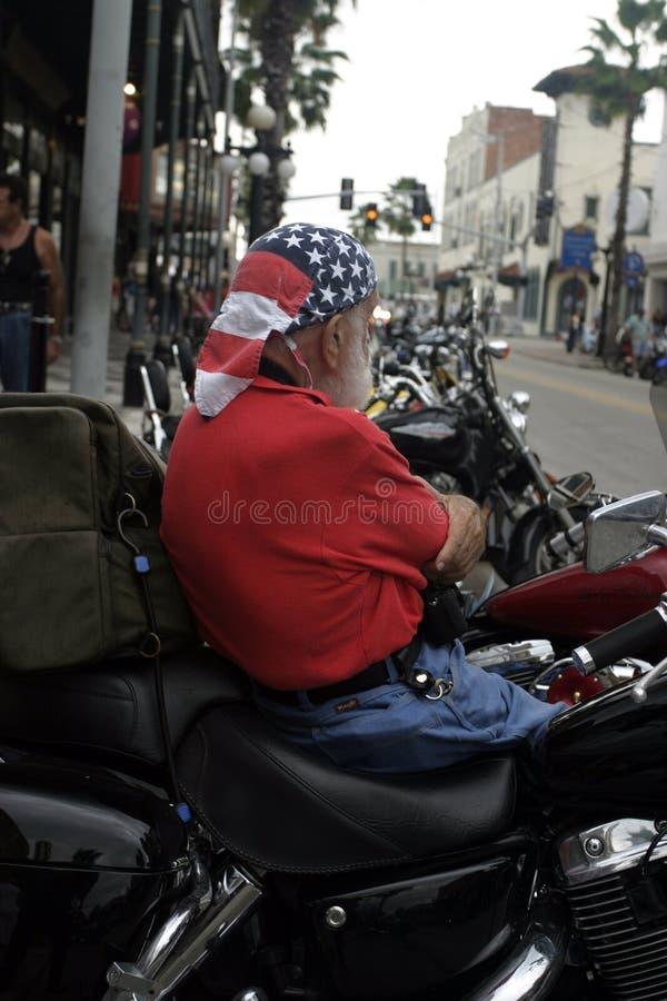 Biker Patriot royalty free stock image