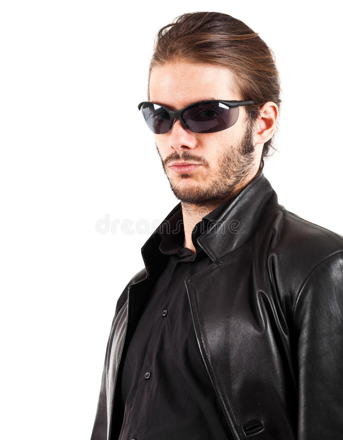 Download Biker portrait stock photo. Image of bouncer, metal, white - 22715360
