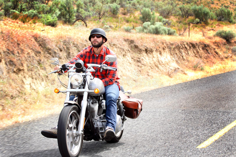 Biker Rides Relaxed stock image