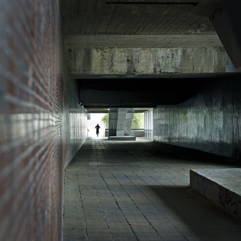 Download Biker in underground stock photo. Image of alone, darkness - 31689258