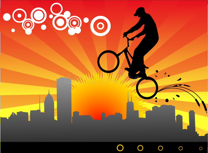 Download Biker vector illustration stock vector. Image of rays - 4742052