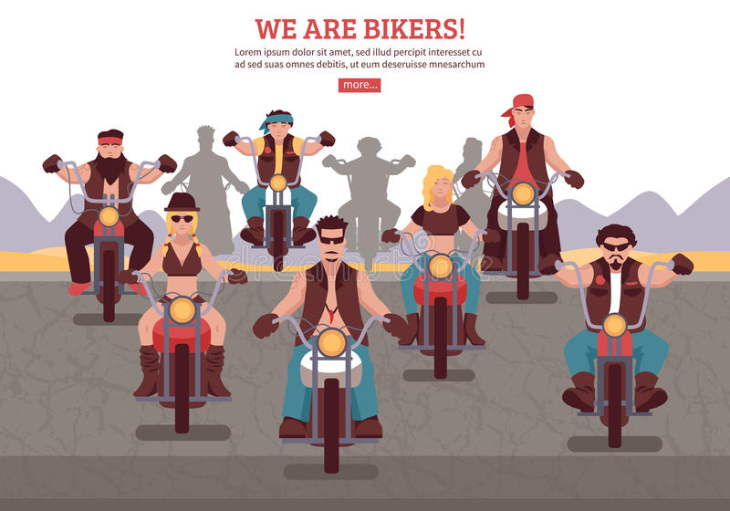 Bikers Background Illustration royalty free illustration
