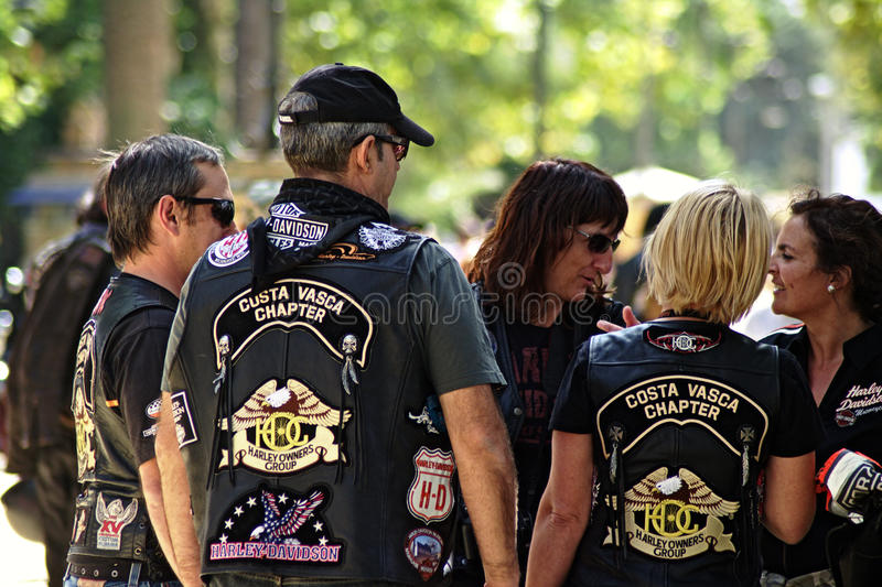 Bikers' concentration royalty free stock images
