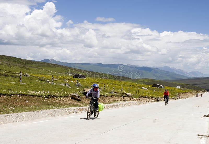 Download Bikers  in mountain aera stock image. Image of outdoor - 16917073
