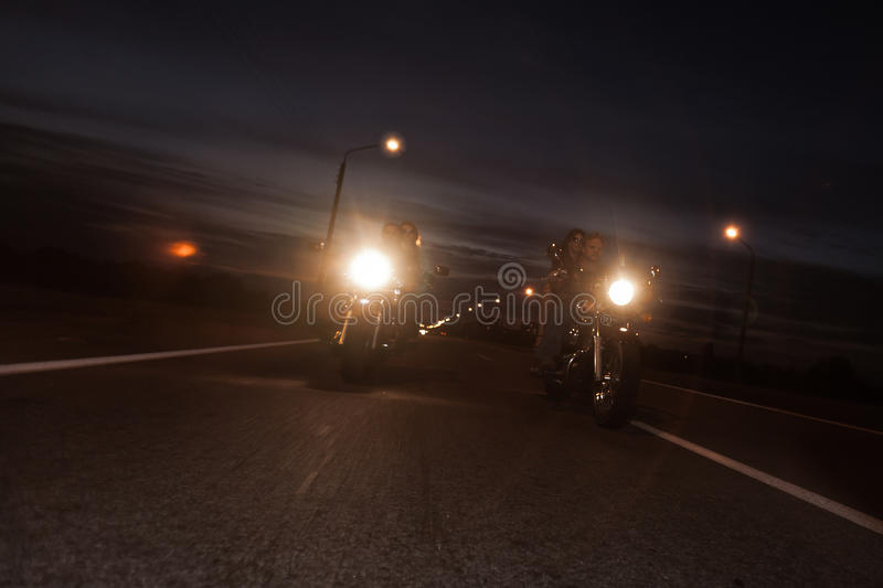 Download Bikers on road stock photo. Image of riding, chopper - 26189752