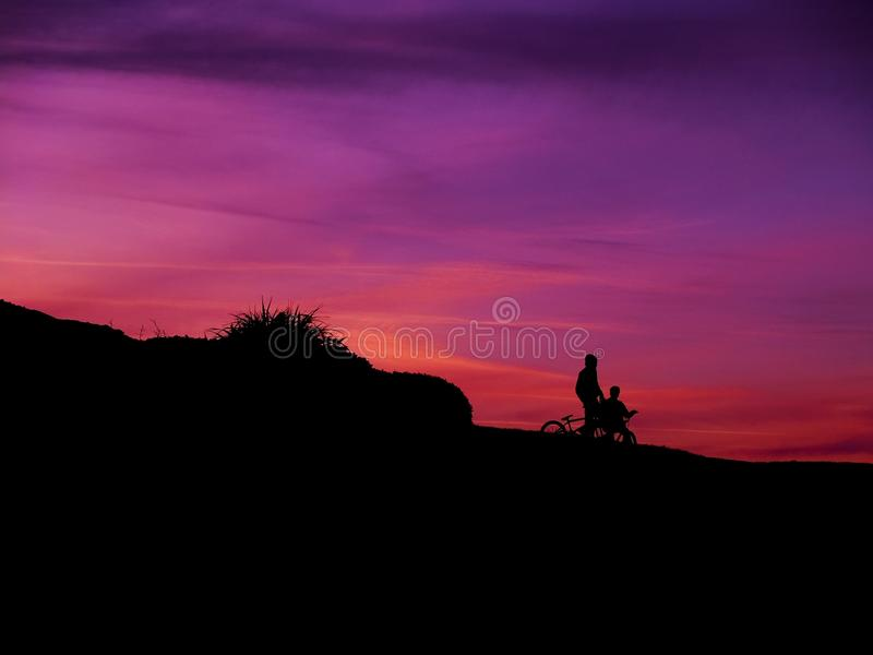 Bikers On Slope Silhouette During Sunset Free Public Domain Cc0 Image