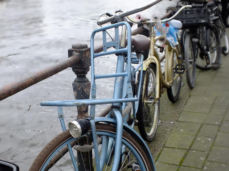 Bikes in Amsterdam royalty free stock image