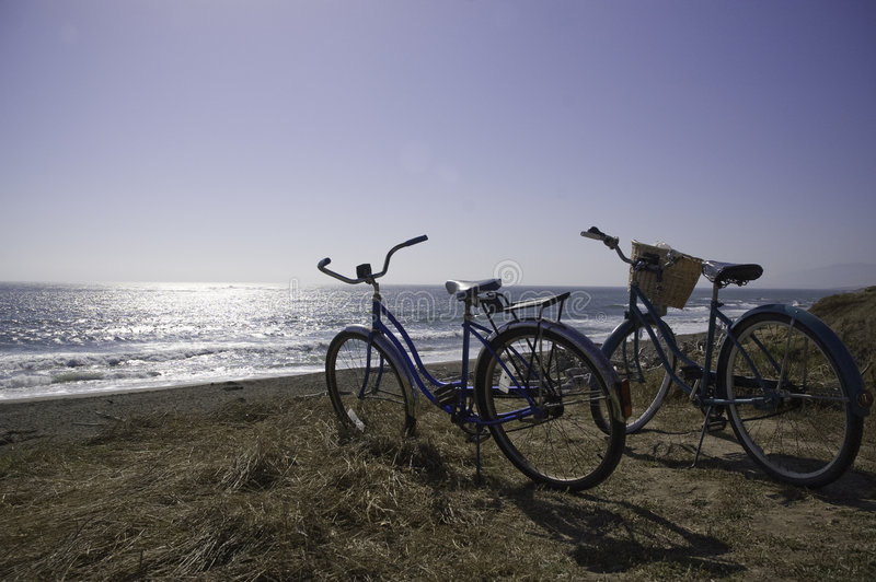 Download Bikes on the beach stock photo. Image of horizon, couple - 3946272