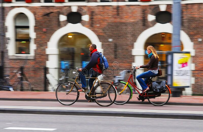 Bikes in the City, Europe Outdoor Lifestyle, Amsterdam royalty free stock images