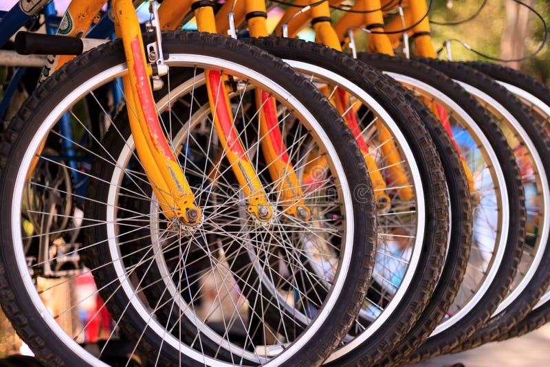 Bikes detail close-up royalty free stock photos