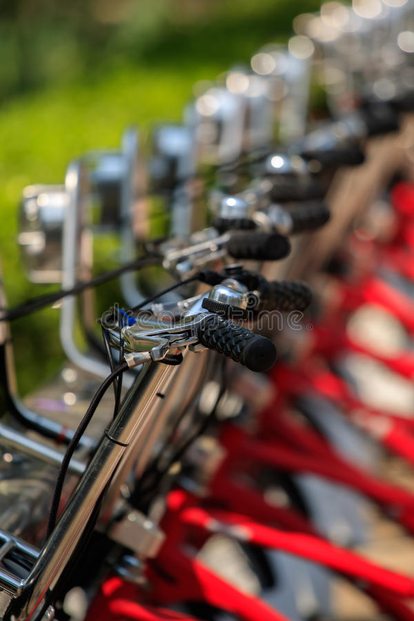 Bikes detail close-up stock images