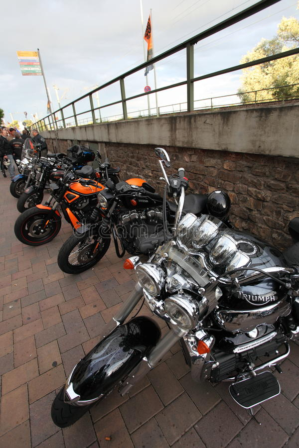 Bikes on Display stock photo